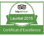Certificat excellence - Lauréat 2015
